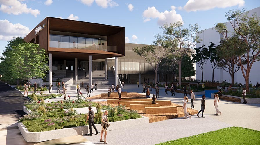 Architect's drawing of Chisholm Frankston TAFE stage two redevelopment.